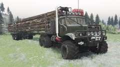 КрАЗ-255 тёмно-серовато-зелёный для Spin Tires