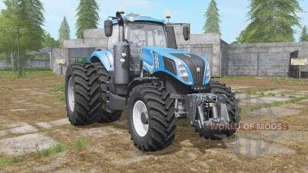 New Holland T8-series with dual wheel для Farming Simulator 2017