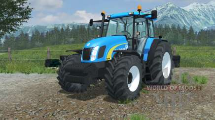 New Holland TL100A vivid cerulean для Farming Simulator 2013