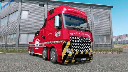 Mercedes-Benz Actros (MP4) Tow Truck v1.7 для Euro Truck Simulator 2