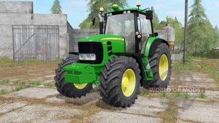 John Deere 7430 Premium darker dynamic smoke для Farming Simulator 2017