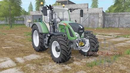 Fendt 700 Vario logos on the hood для Farming Simulator 2017