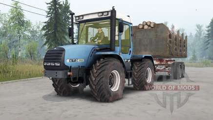 ХТЗ-17022 в синем окрасе для Spin Tires