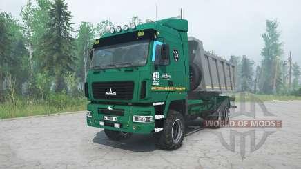 МАЗ-6514H9 зелёный окрас для MudRunner