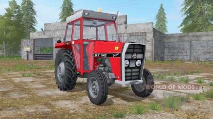 IMT 542 DeLuxe light brilliant red для Farming Simulator 2017