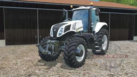 New Holland T8.435 ultra whitᶒ для Farming Simulator 2015