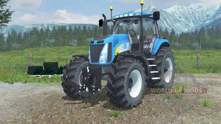 New Holland T8020 realistic exhaust для Farming Simulator 2013
