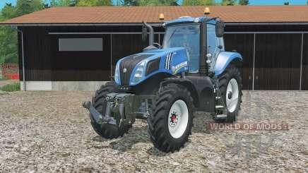 New Holland T8.320 single row wheels для Farming Simulator 2015
