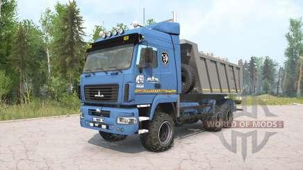 МАЗ-6514H9 синий окрас для MudRunner