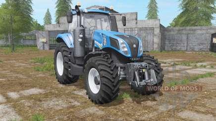 New Holland T8.435 with power options для Farming Simulator 2017