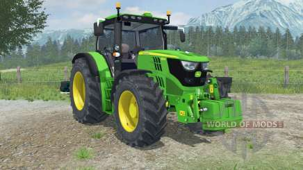 John Deere 6150R dynamic exhaust для Farming Simulator 2013