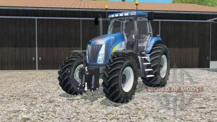 New Holland T8020 tire marks для Farming Simulator 2015