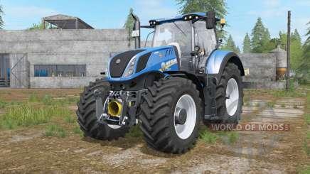 New Holland T7-series interactive control для Farming Simulator 2017