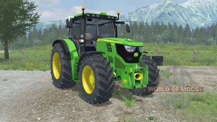 John Deere 6150R full hydraulics animation для Farming Simulator 2013
