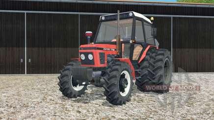 Zetor 7745 rear twin wheels для Farming Simulator 2015