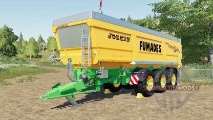 Joskin Trans-Space 8000-27 TRC150 Fumades для Farming Simulator 2017