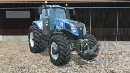 New Holland T8.320 new rear wheels для Farming Simulator 2015