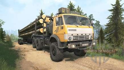 КамАЗ-4310 жёлтый окрас для MudRunner