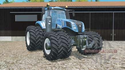 New Holland T8.320 double wheels для Farming Simulator 2015