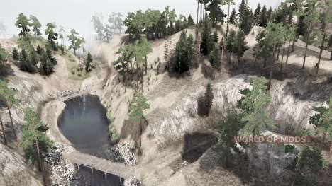 Over the mountain для Spintires MudRunner