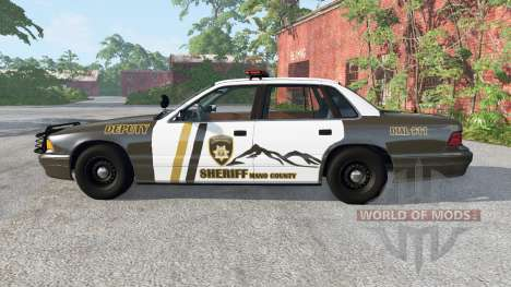 Gavril Grand Marshall Mano County Sheriff для BeamNG Drive