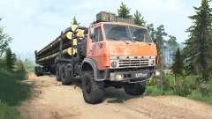 КамАЗ-4310 ржавый в красном окрасе для MudRunner