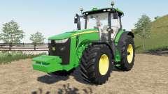 John Deere 8R new steering console and seat для Farming Simulator 2017