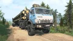 КамАЗ-4310 синий окрас для MudRunner