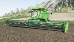 John Deere S700 two grain tank configurations для Farming Simulator 2017