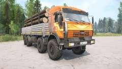 КамАЗ-6350 оранжевый окрас для MudRunner