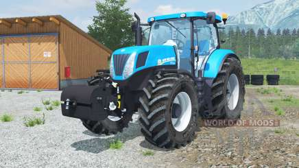 New Holland T7.220 with weight для Farming Simulator 2013