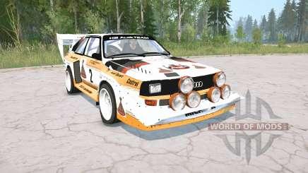 Audi Sport quattro S1 Pikes Peak 1987 для MudRunner