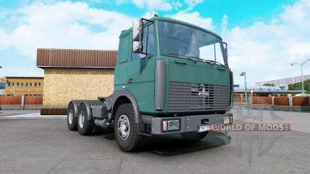 МАЗ-6422 тёмный циан для Euro Truck Simulator 2