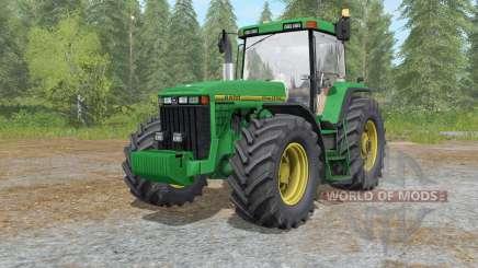 John Deere 8400&8410 nowa dirt skory для Farming Simulator 2017