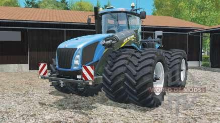 New Holland T9.565 with dynamic twin wheels для Farming Simulator 2015