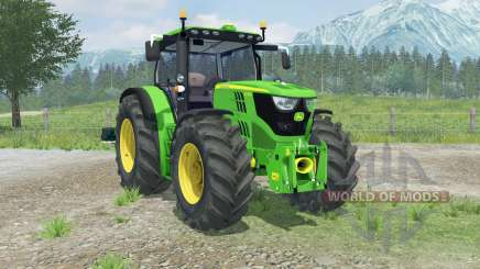 John Deere 6170R with weights для Farming Simulator 2013
