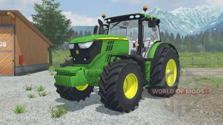 John Deere 6170R&6210R MoreRealistic для Farming Simulator 2013