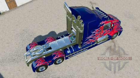 Western Star 5700 Sleeper Cab Optimus Prime для Farming Simulator 2017
