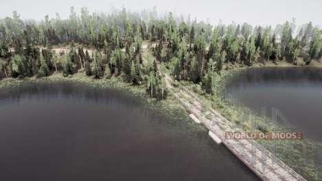 Forest Lakes для Spintires MudRunner