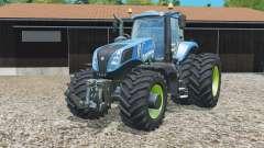 New Holland T8.320 with twin dynamic rear wheelᵴ для Farming Simulator 2015