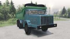 МАЗ-530 зелёно-голубой для Spin Tires