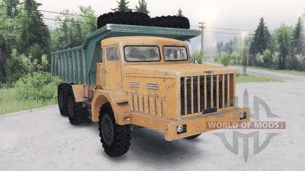 МАЗ-530 зелёно-оранжевый для Spin Tires