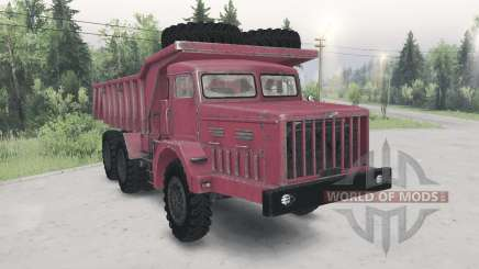 МАЗ-530 красный окрас для Spin Tires