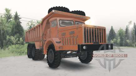 МАЗ-530 оранжевый окрас для Spin Tires