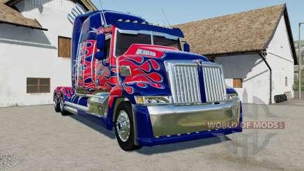 Western Star 5700 Sleeper Cab Optimus Prime для Farming Simulator 2017