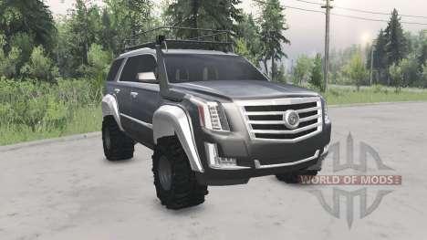 Cadillac Escalade (GMTK2XL) 2015 для Spin Tires