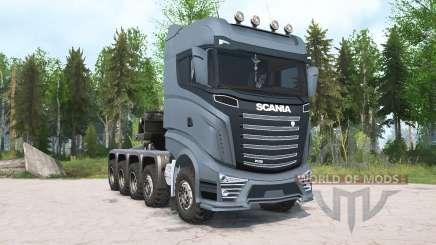 Scania R1000 10x10 для MudRunner