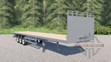 SDC flatbed trailer для Farming Simulator 2017