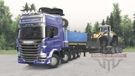 Scania R730 10x10 v2.0 для Spin Tires