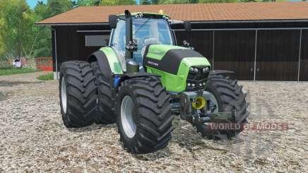 Deutz-Fahr 7250 TTV Agrotron rear twin wheels для Farming Simulator 2015